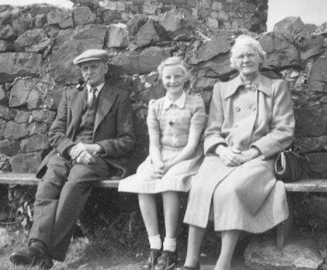 Jim, Granddaughter Norma and Lizzie abt 1950