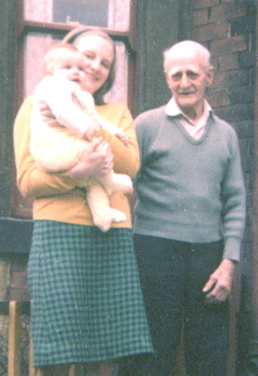 Norma, first son David and grandfather Jim, 1966
